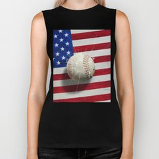 Baseball - New York, New York Biker Tank