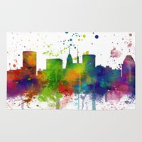 baltimore Area & Throw Rugs featuring Baltimore Skyline by Marlene Watson