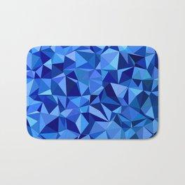 Blue tile mosaic Bath Mat