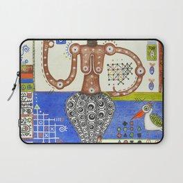 Octopus centaur cat girl, abstract geometric figurative crazy colorful mixed media art Laptop Sleeve