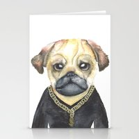 gangster Stationery Cards featuring Dog Gangster by Lucie Sperry