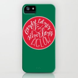 Candy Canes and Silver Lanes iPhone Case