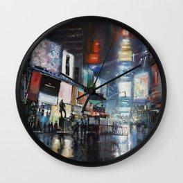 Nights on Broadway Wall Clock