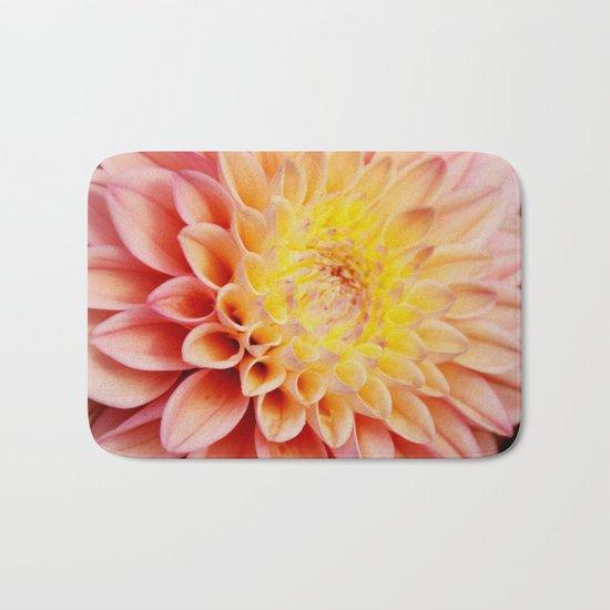 Light pink Dahlia #3 Bath Mat