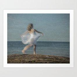 Summer Dance on the Beach Art Print