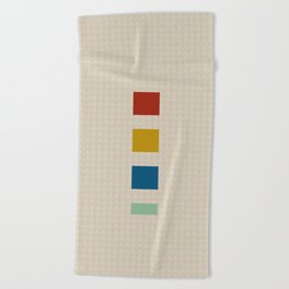 four elements || tweed & primary colors Beach Towel