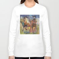 horses Long Sleeve T-shirts featuring Horses by Michael Creese