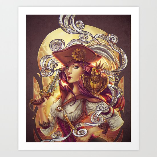 Pirate gears Art Print