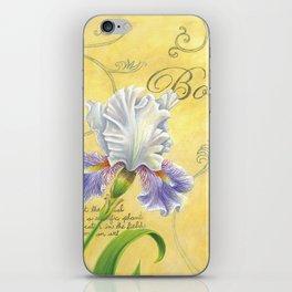 Purple and White Iris iPhone Skin