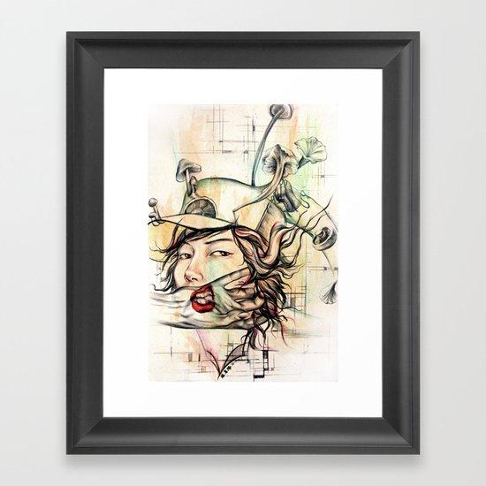 crossword anxiety Framed Art Print