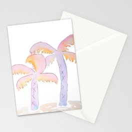 Pastel Palm Trees Stationery Cards