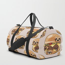 Sloths Burger Duffle Bag