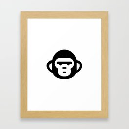 The grumpiest monkey. Framed Art Print