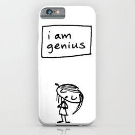 i am genius iPhone Case