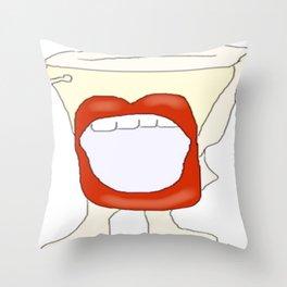 Potty mouth  Throw Pillow