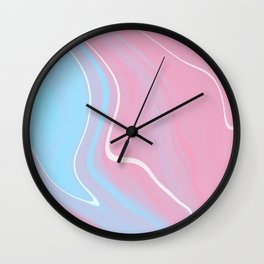 Bubblegum Marble 1 Wall Clock
