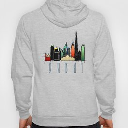 Dubai Colorful Skyline Hoody