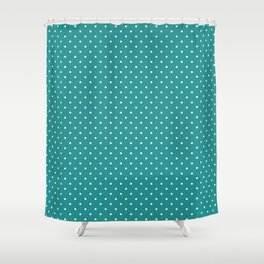 Dotted Turquoise Shower Curtain