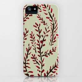 Red bud branches iPhone Case