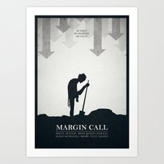 Margin Call - minimal poster Art Print