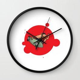 Bearded Red Skater Wall Clock