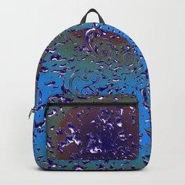Pattern Golden Rain Blue Lila Backpack