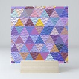 Meditative Lines on Purple #Geometric #Patterns Mini Art Print