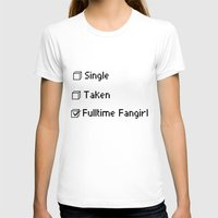 fangirl T-shirts featuring fulltime fangirl by Sara Eshak