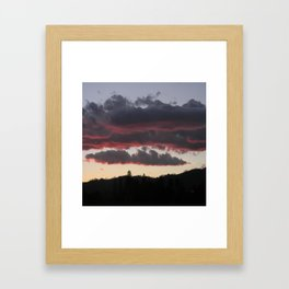 The end of another glorious day.... Framed Art Print