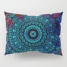 Bohemian Passion Blue & Red Mandala Design Pillow Sham