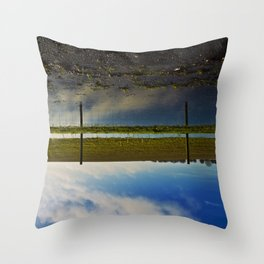 reflectively fenced... Throw Pillow