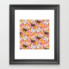 Sushi dance Framed Art Print