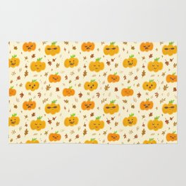 pumpkin faces Rug