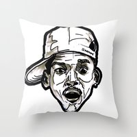 fresh prince Throw Pillows featuring Prince Breath of Fresh Air by sketchnkustom