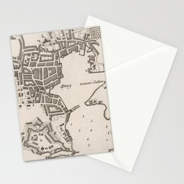 Vintage Map of Plymouth England (1764) Stationery Cards