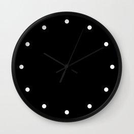 Dots Black Wall Clock
