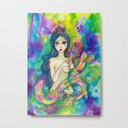 the Rainbow Eel Metal Print