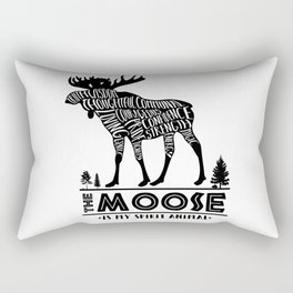 Spirit Animals: The Moose Rectangular Pillow