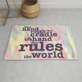 The Hand that Rocks the Cradle... Rug