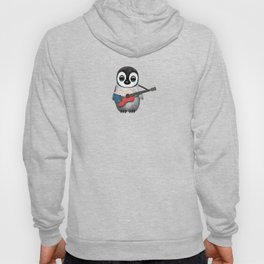 Baby Penguin Playing Czech Flag Acoustic Guitar Hoody