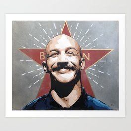 Bronson, Tom Hardy stencil art painting Art Print