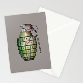 Your Keyboard is your weapon Grenade Stationery Cards