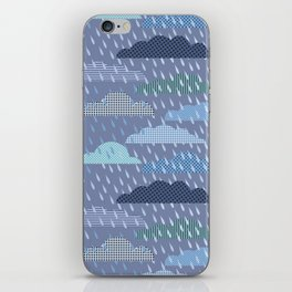 rainy cloud iPhone Skin
