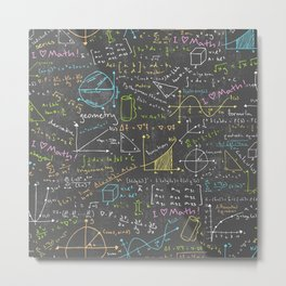 Math Lessons Metal Print