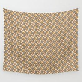 Peachy Grey Tiles Wall Tapestry