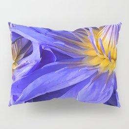 Fine Art Periwinkle, Indigo, Purple Lily Pads Photo Pillow Sham