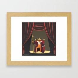 king le[ye]ar Framed Art Print