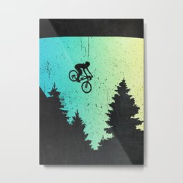 Mountainbike MTB Gift Idea Metal Print