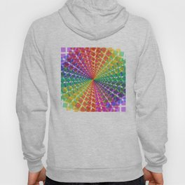 Colorful mosaic pattern design artwork- colorful christmas gifts- pixel art Hoody