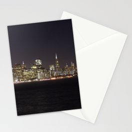 SF at night as seen from Treasure Island. Stationery Cards